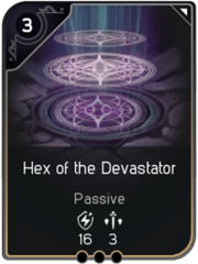 Hex of the Devastator card