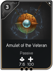 Amulet of the Veteran card