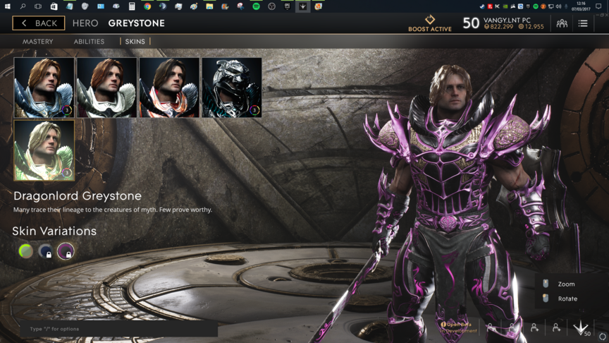 Greystone Pink Dragonlord skin