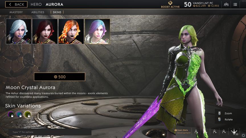 Aurora Green Moon Crystal skin