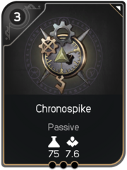 Chronospike card