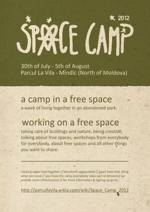 Space Camp 2012 flyer