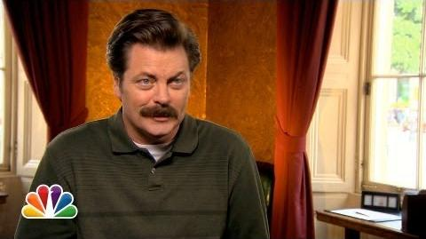 Nick Offerman in London - Parks and Recreation