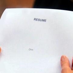 Orin's résumé