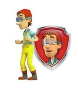 PAW Patrol Cap'n Turbot with Pup Badge Nickelodeon Nick Jr. Spin Master Captain