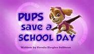 Pups save a school day titlecard
