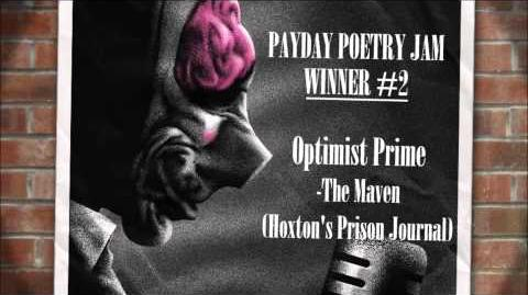 "PAYDAY Poetry Jam Winner - ""The Maven (Hoxton's Prison Journal)"" by Optimist Prime"