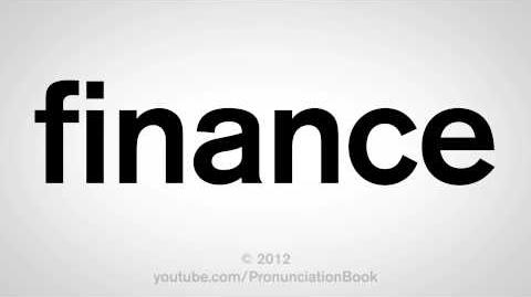 How to Pronounce Finance