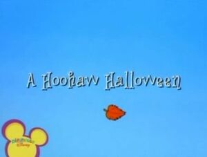 Title Display - A Hoohaw Halloween
