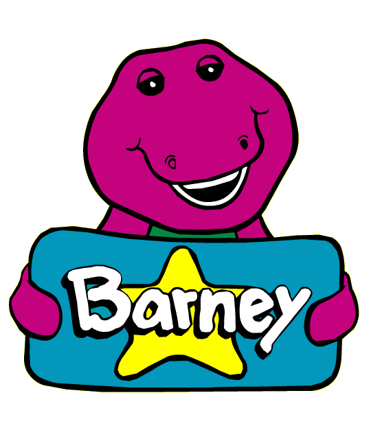 Image - Barney Holding a Blue Square With a Yellow Star ...