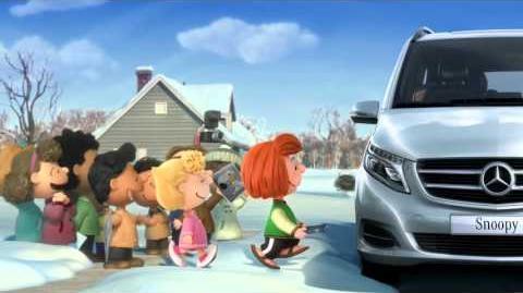 Anuncio Mercedes Clase V 2016 Carlitos y Snoopy