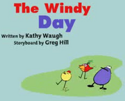 The windy day image