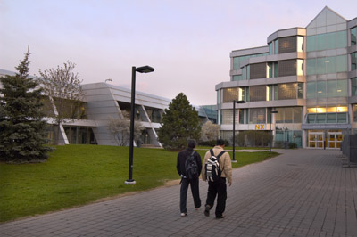 Beautiful Humber campus at twilight