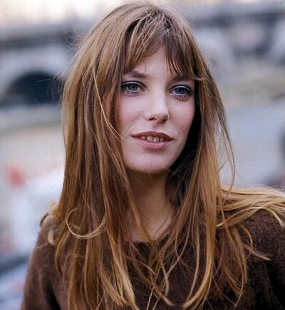 Jane Birkin messy hair