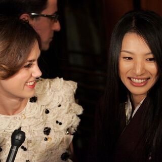 with Keira Knightley at the premiere of Silk