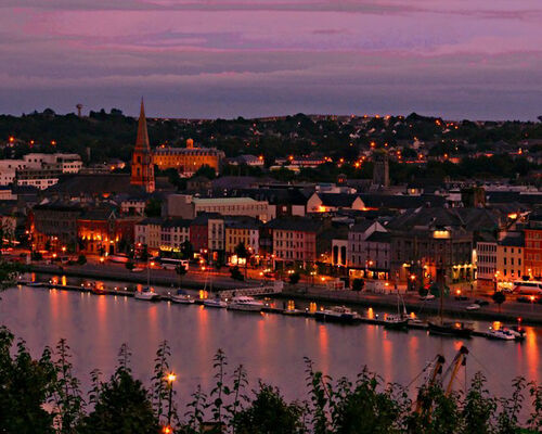 Beautiful Waterford at night