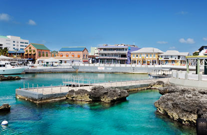 Grand-Cayman-Georgetown-waterfront-shopping-area
