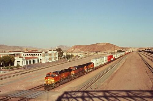 Train in old Barstow