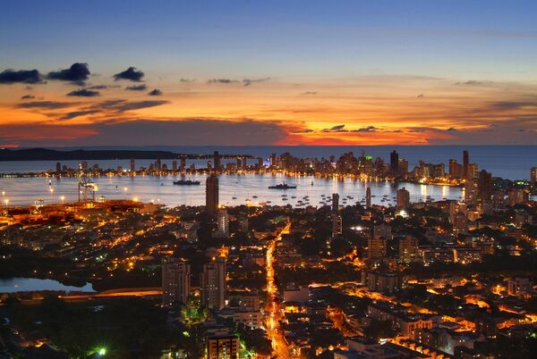 City-of-Cartagena-at-Night