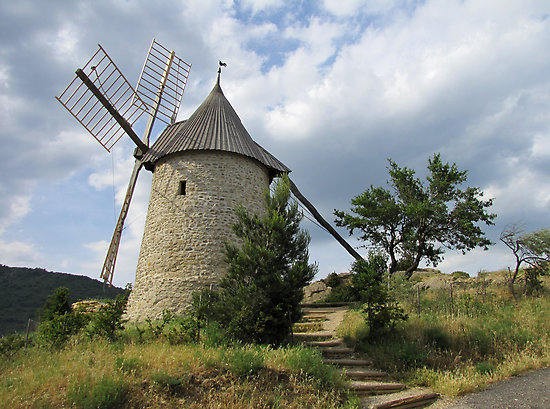 File:Depositphotos 1712047-Windmill-Mont-Dol-Brittany-France.jpg