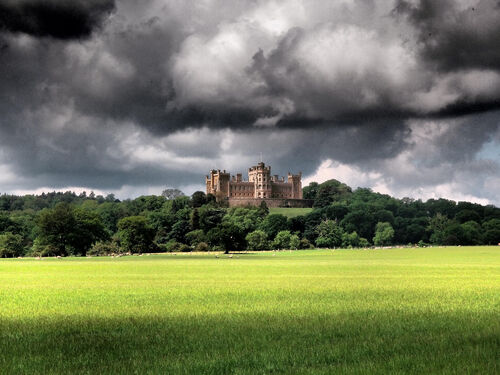 Belvoir Castle from afar