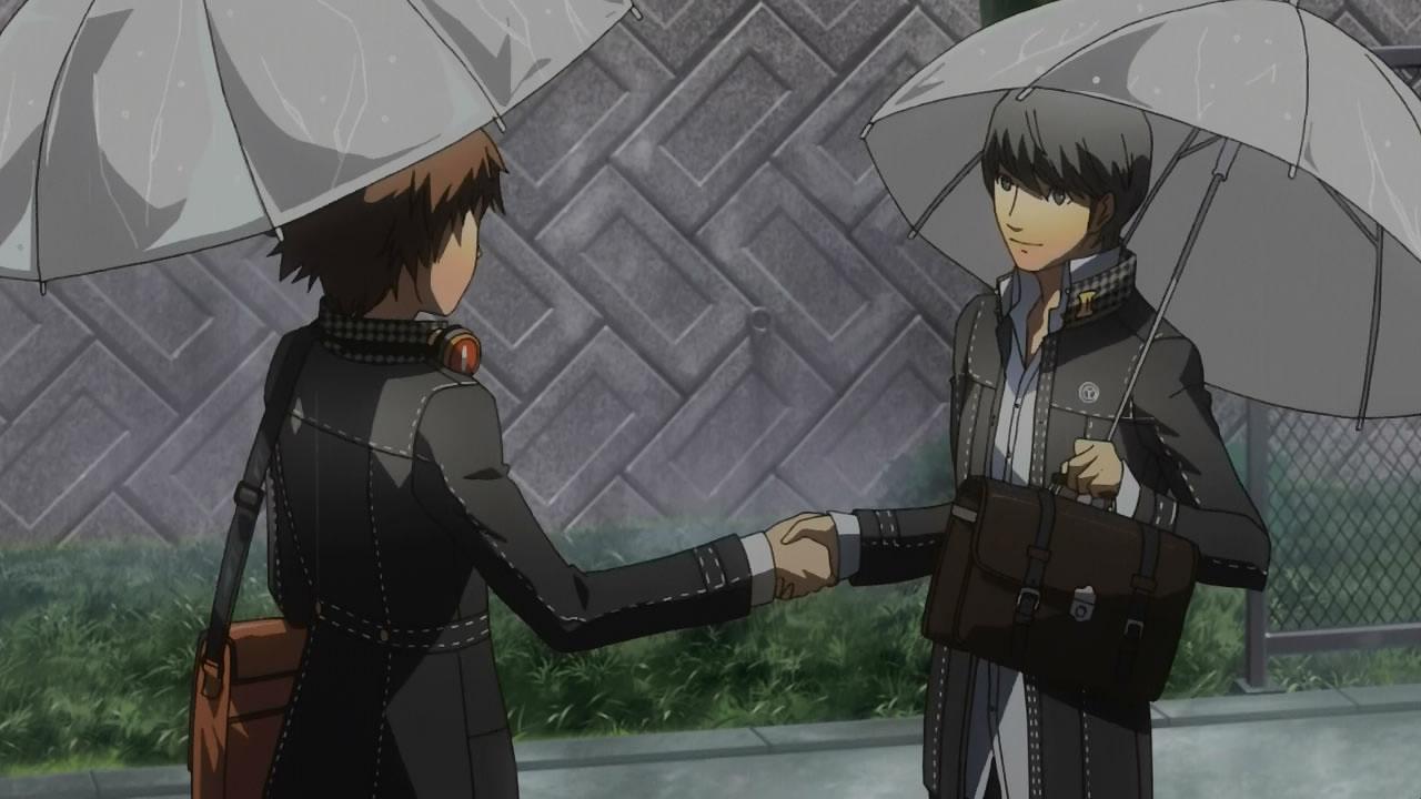 Yu Narukami Gif Yu befriends Yosuke