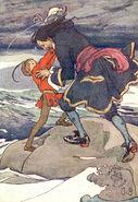 Peter Pan fighting Captain Hook