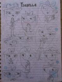 Isabella (sketches), by karenca