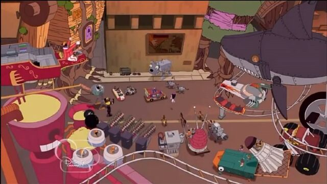 File:Phineas and Ferb's Inventions before Robot Riot.jpg