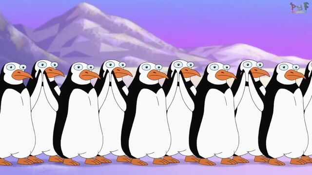 File:Penguins raising their hands.jpg