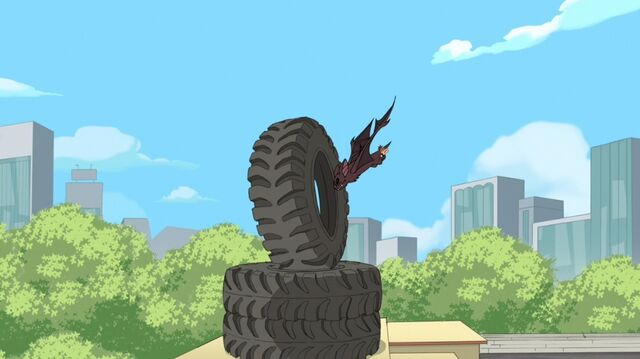 File:Flying through a tire.jpg
