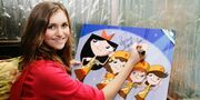 Alyson Stoner signs artwork