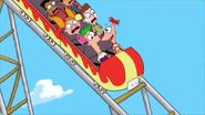 Flashback of P&F on rollercoaster