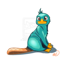 Perry the Platypus, by gibberishic