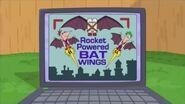 Rocket powered bat wings
