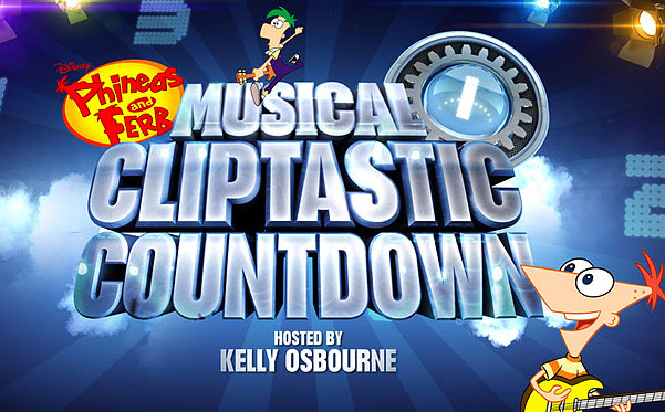 File:Phineas and Ferb Musical Cliptastic Countdown Hosted by Kelly Osbourne logo.jpg