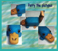 Perry the platypus Felt, by Fallonkyra