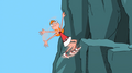 Candace hanging onto mountain for her life