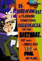 Hallmark 'Planning something diabolical' birthday card