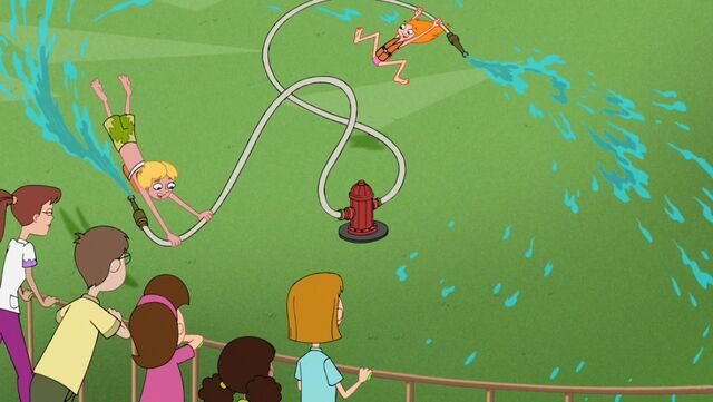 File:Candace and Jeremy being spun round the fire hydrant.jpg