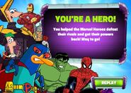 Heroes of Danville winning screen