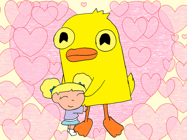 File:Duckymomo is my friend, by Brokenshell44.png