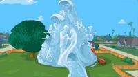 Wedding day ice sculpture