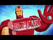 Iron man flying around doing stuff