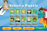 Find Perry - Puzzle Selection Menu (completed)
