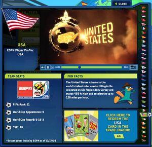 Kick Around the World - USA fact page