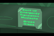 Back up emergency mustache translator