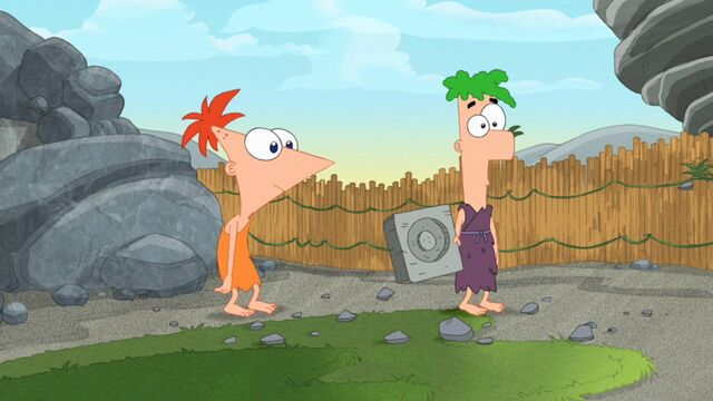 File:Phineas and Ferb as caveman.jpg