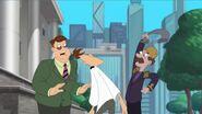 Mayor Chickenen slaps Doof with his sock