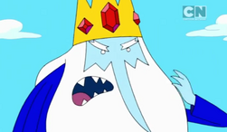 Ice King, plainly wearing his tunic